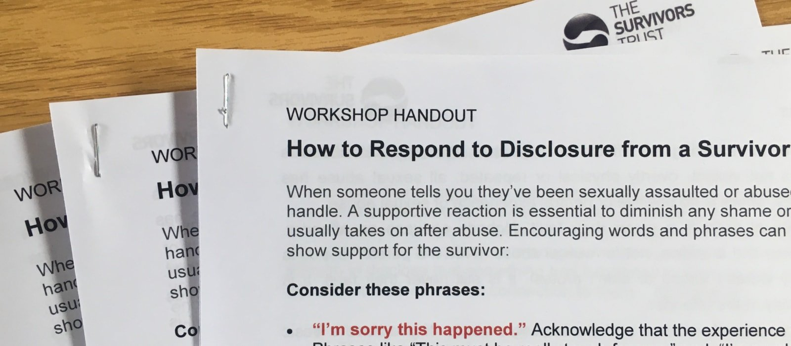 Understanding the Impact of Sexual Violence & How to Handle Disclosure