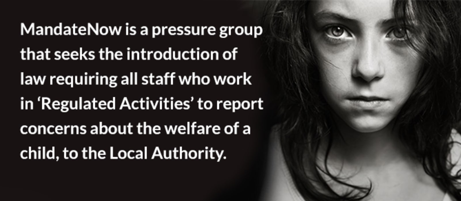 "Mandatory Reporting of Child Abuse: ""Law must change"" says Rape & CSA Charities"