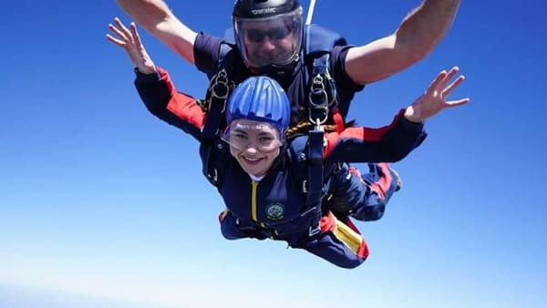 Rebecca Jumped out of a Plane!