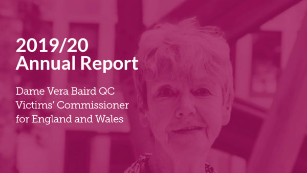 The Victims Commissioner's newest Report highlighting the catastrophic decline in rape prosecutions